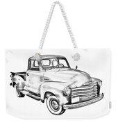 1947 Chevrolet Thriftmaster Pickup Illustration Weekender Tote Bag