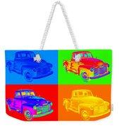 1947 Chevrolet Thriftmaster Pickup Pop Art Weekender Tote Bag