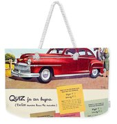 1947 - Desoto Automobile Advertisement - Color Weekender Tote Bag