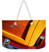1947 Ford Super Deluxe Sportsman Convertible Taillight Emblem Weekender Tote Bag