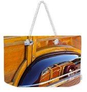 1947 Mercury Woody Reflecting Into 1947 Ford Woody Weekender Tote Bag