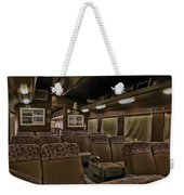 1947 Pullman Railroad Car Interior Seating Weekender Tote Bag