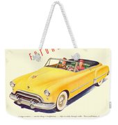1948 - Oldsmobile Convertible Automobile Advertisement - Color Weekender Tote Bag