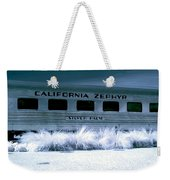 1948 California Zephyr Silver Palm Near Infrared Blue Weekender Tote Bag