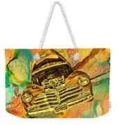 1948 Chev Gold Tie Dye Tilt Car Art Weekender Tote Bag