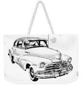 1948 Chevrolet Fleetmaster Antique Car Illustration Weekender Tote Bag