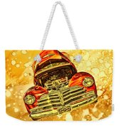 1948 Chevy Gold Acid Art Weekender Tote Bag