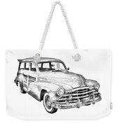 1948 Pontiac Silver Streak Woody Illustration Weekender Tote Bag