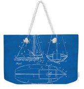1948 Sailboat Patent Artwork - Blueprint Weekender Tote Bag