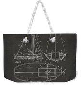 1948 Sailboat Patent Artwork - Gray Weekender Tote Bag