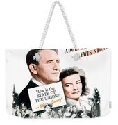 1948 - State Of The Union Motion Picture Poster - Spencer Tracy - Katherine Hepburn - Mgm - Color Weekender Tote Bag