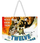 1949 - Twelve O Clock High Movie Poster - Gregory Peck - Dean Jagger - 20th Century Pictures - Color Weekender Tote Bag