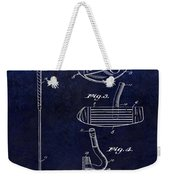 1949 Golf Putter Patent Drawing Blue Weekender Tote Bag