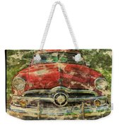 1949 Red Ford Coupe Weekender Tote Bag
