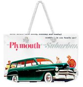 1950 - Plymouth Suburban Station Wagon Automobile Advertisement - Color Weekender Tote Bag