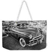 1950 Chevrolet Sedan Deluxe Painted Bw   Weekender Tote Bag