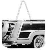 1950 Ford Custom Deluxe Station Wagon Rear End - Woodie Weekender Tote Bag