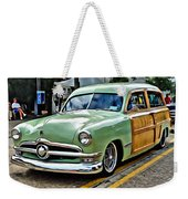 1950 Ford Deluxe Woody Station Wagon Weekender Tote Bag