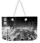 1950s 1953 Night Scene Of Chicago State Weekender Tote Bag