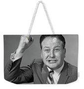 1950s 1960s Portrait Of Angry Man Weekender Tote Bag