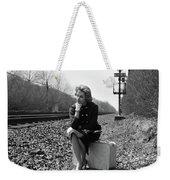 1950s 1960s Woman Sad Worried Facial Weekender Tote Bag