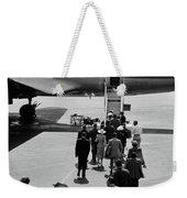 1950s Airplane Boarding Passengers Weekender Tote Bag by Vintage Images