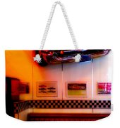 1950s American Diner - Featured In Vehicle Enthusiasts Weekender Tote Bag