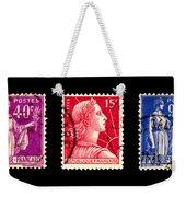 1950s French Postage Triptych Weekender Tote Bag