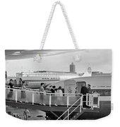 1950s Men And Women Walking Down Ramp Weekender Tote Bag by Vintage Images