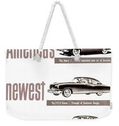 1951 - Kaiser Frazer Manhattan Automobile Advertisement - Color Weekender Tote Bag