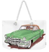 1951 Cadillac Series 62 Convertible Weekender Tote Bag