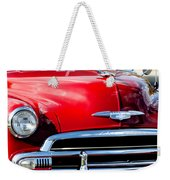 1951 Chevrolet Grille Emblem Weekender Tote Bag by Jill Reger