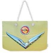 1951 Chrysler New Yorker Convertible Emblem Weekender Tote Bag by Jill Reger