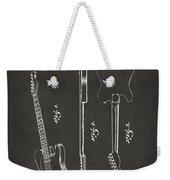 1951 Fender Electric Guitar Patent Artwork - Gray Weekender Tote Bag