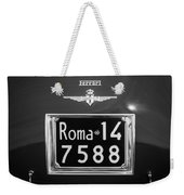 1951 Ferrari 212 Export Berlinetta Rear Emblem - License Plate -0775bw Weekender Tote Bag