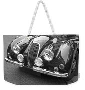 1951 Jaguar Xk120 In Black And White Weekender Tote Bag