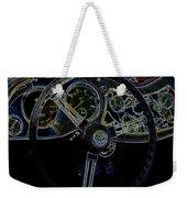 1951 Mg Td Dashboard_neon Car Art Weekender Tote Bag