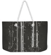 1953 Aerial Missile Patent Gray Weekender Tote Bag by Nikki Marie Smith