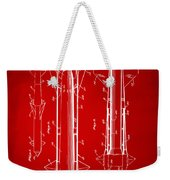 1953 Aerial Missile Patent Red Weekender Tote Bag by Nikki Marie Smith