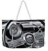 1953 Buick Super Dashboard And Steering Wheel Bw Weekender Tote Bag