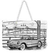 1953 Chevrolet Corvette Weekender Tote Bag