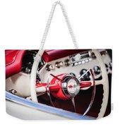 1953 Chevrolet Corvette Steering Wheel Emblem -1400c Weekender Tote Bag
