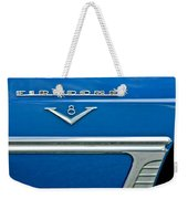1953 Desoto Firedome Convertible Side Emblem Weekender Tote Bag