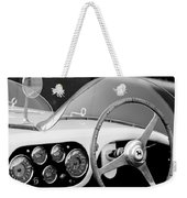 1953 Ferrari 340 Mm Lemans Spyder Steering Wheel Emblem Weekender Tote Bag