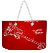 1953 Horse Toy Patent Artwork Red Weekender Tote Bag by Nikki Marie Smith