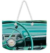 1954 Chevrolet Belair Steering Wheel 3 Weekender Tote Bag