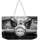 1954 Chevrolet Corvette Steering Wheel -382bw Weekender Tote Bag