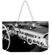 1954 Chevrolet Corvette Steering Wheel -502bw Weekender Tote Bag