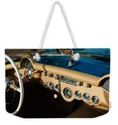 1954 Chevrolet Corvette Steering Wheel -502c Weekender Tote Bag