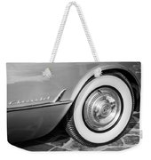 1954 Chevrolet Corvette Wheel Emblem -159bw Weekender Tote Bag